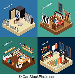Craftsman Isometric Compositions - Craftsman isometric...