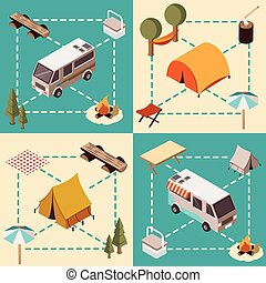 Camp Isometric Compositions - Camp isometric compositions...