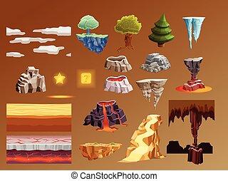 Computer Games Cartoon Elements 3d Set - Computer games 3d...