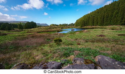 """Lagoa do Negro"" (Black Lagoon) in Terceira Island, Azores..."
