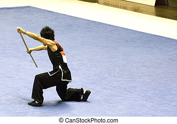 Chinese Martial Arts (Wushu) - Chinese martial arts exponent...