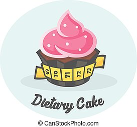 Dietary Sweet Cake - Cake is covered with a measuring tape....