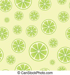 Abstract seamless green lime vector background.