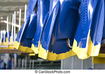 Rubber Swim Fins - Image of newly made rubber swim fins...