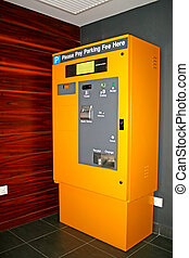 Parking Ticket Machine - Image of an automatic parking...