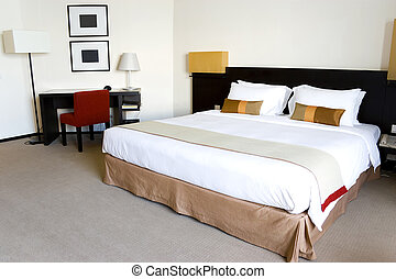 Hotel Bedroom - Image of a nice hotel bedroom