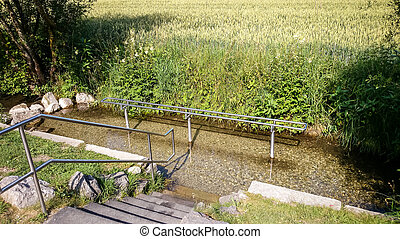Kneipp hydrotherapy for water treading, public use