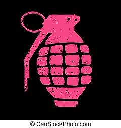 Hand Grenade Illustration