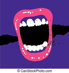 Screaming Mouth Illustration