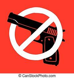 Anti Gun Symbol Illustration