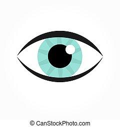 Blue eye icon