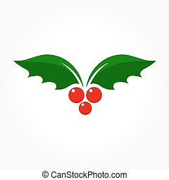 Holly berry vector - Holly berry Christmas icon