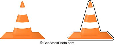 Traffic cones vector image.