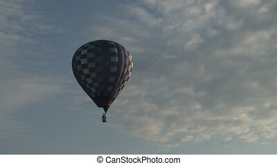 Balloon flying in the sky aerial view - Balloon made of...