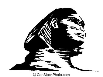 vector  illustration of the sphinx