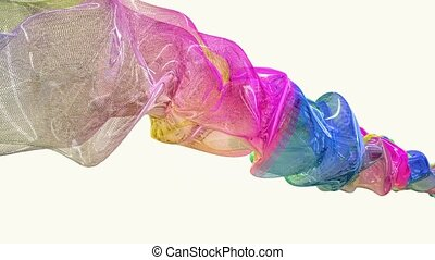 Abstract flowing substance in various colors