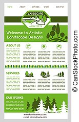 Landing page template for landscape design website