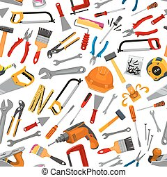 Construction working tool seamless pattern