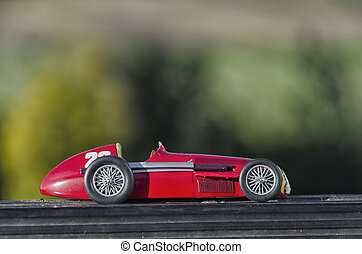 Red car of the Fangio era