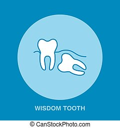Dentist, orthodontics line icon. Dental surgery, wisdom...