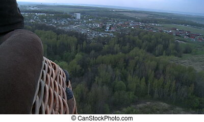 Landscape with forest and town aerial view - Nature...
