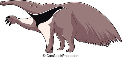 Cartoon smiling Anteater - Vector image of the Cartoon...