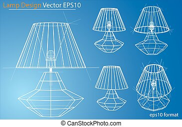 Design and manufacture of home lamps. Vector