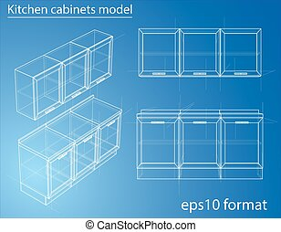 Design and manufacture of kitchen furniture. Wire-frame...