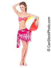 Girl posing in bikini