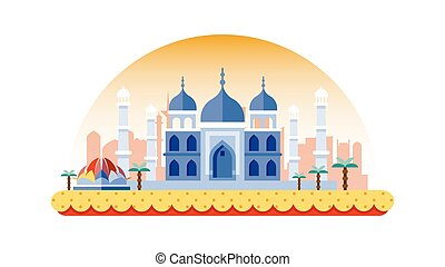 India icon in flat style - Stock vector illustration...