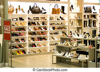 Shoe Shop - Image of women's shoe shop.