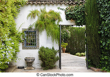 Palacio de Viana - Typical Andalusian patio - Door leading...