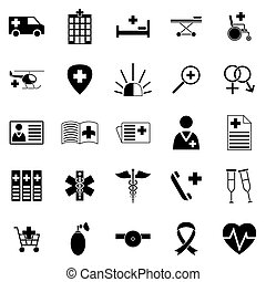 Set of medical icons. - Set of medicine icons. Collection of...