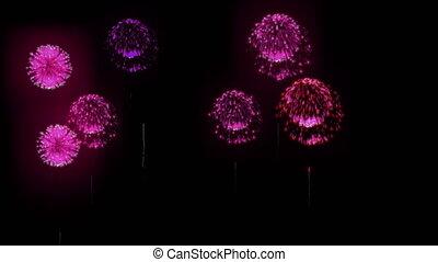 4K festival firework. many different versions. number 20.