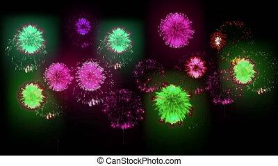 4K festival firework. many different versions. number 21.