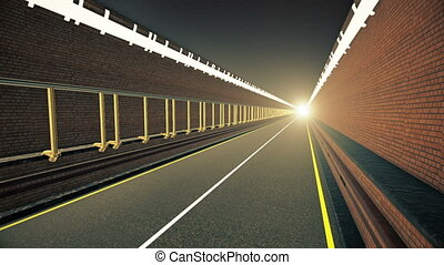 Tunnel with light in the end