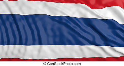 Waiving Thailand flag. 3d illustration - Waiving in the wind...