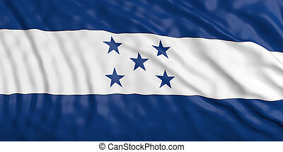 Waiving Honduras flag. 3d illustration - Waiving in the wind...