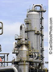 Oil Refinery - Equipment at an oil refinery facility