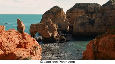 Caves At Faro Da Ponta Da Piedade, Lagos, Portugal