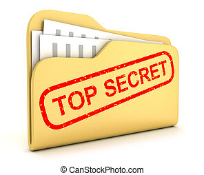 "File top secret - File and stamp ""top secret"" (done in 3d)"