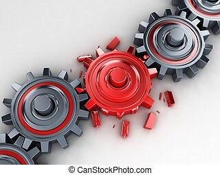 Red gear - Bad red gear (done in 3d)