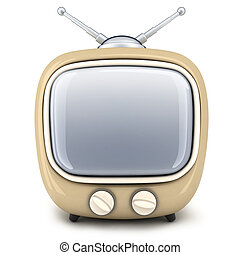 TV abstract (front) - Small TV on a white background (done...