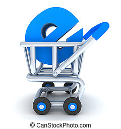 Cart and e-shop - Robot and cart e-shop (done in 3d)