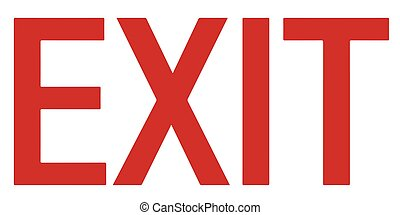Exit sign. The red or green EXIT sign is more common in the US and formerly Canada. Vector Format.
