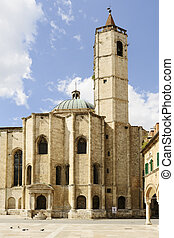 Church S. Francesco in town Acoli Piceno Marche Italy