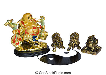Feng Shui Geomancy - Isolated image of Chinese Feng Shui...
