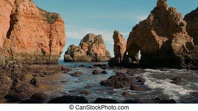 Caves At Faro Da Ponta Da Piedade, Lagos, Portugal