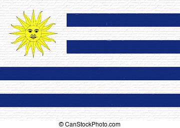 Flag of Uruguay Wall - Illustration of the national flag of...