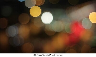 Citylights bokeh at night shot